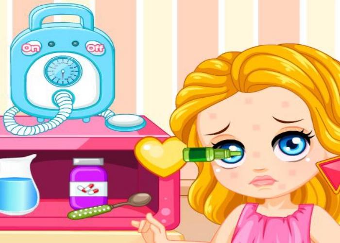 Petite fille allergique