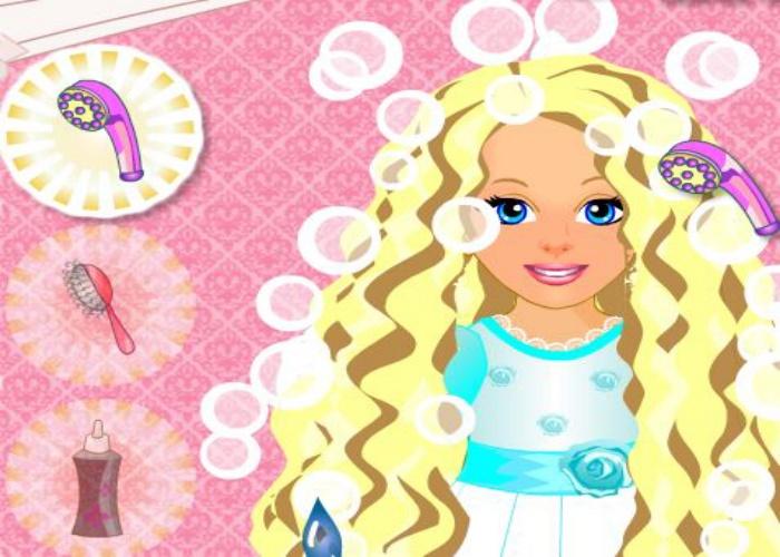 Coiffure de la petite princesse sur jeux fille gratuit - Jeux de coiffure raiponce ...