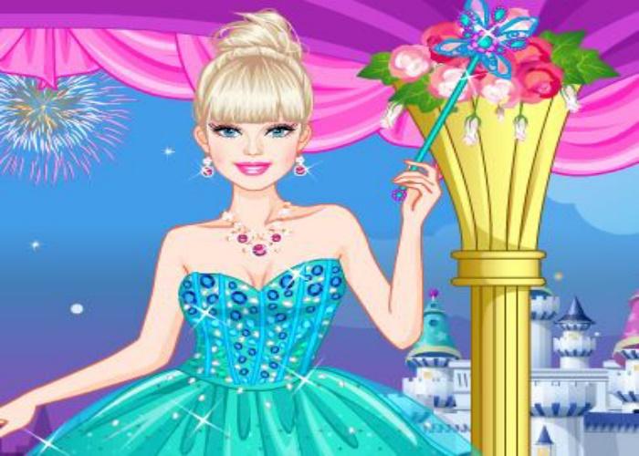 Jeune princesse en robe