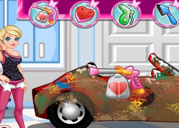 voiture à nettoyer sur jeux fille gratuit