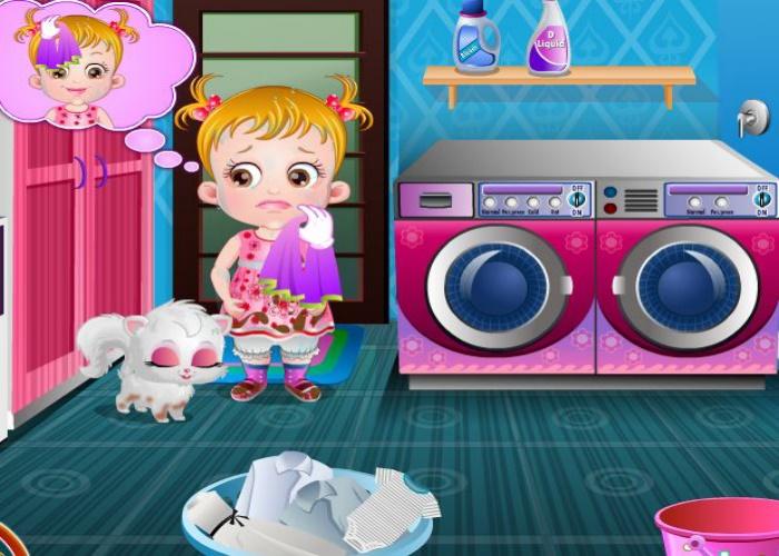 Hazel fait la lessive