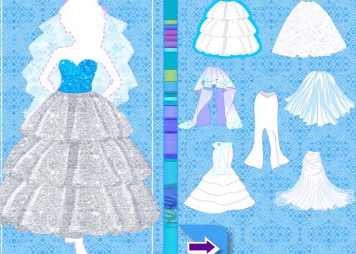 Crée la robe de mariée d'Elsa