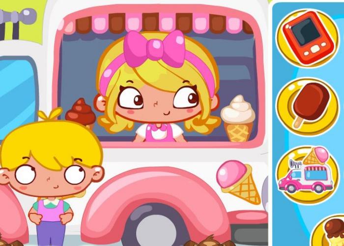 S'amuser dans le camion de glaces !