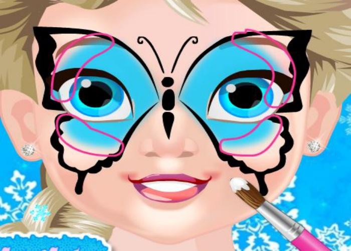 Maquillage papillon pour Elsa
