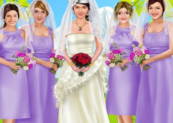 La mariée et ses demoiselles