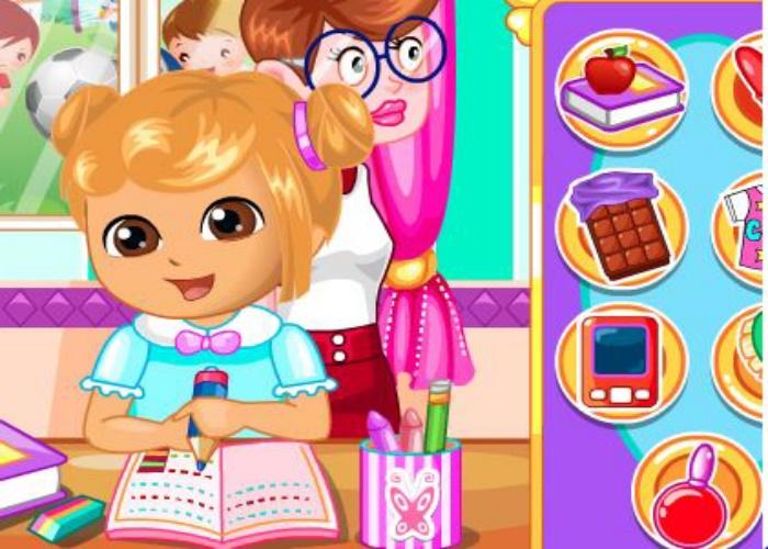 Dora s'amuse en classe