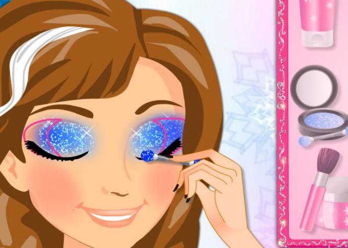 Maquillage d'Anna pour l'école