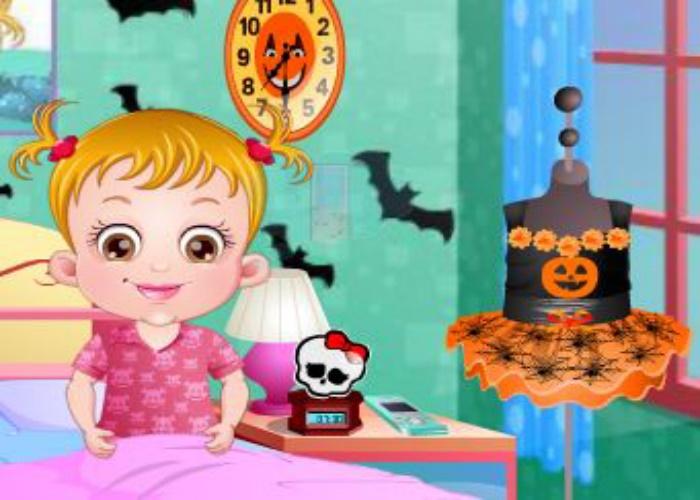Hazel et les créations d'Halloween