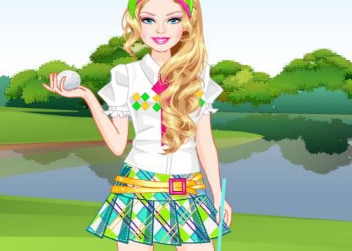 Habillée pour une leçon de golf
