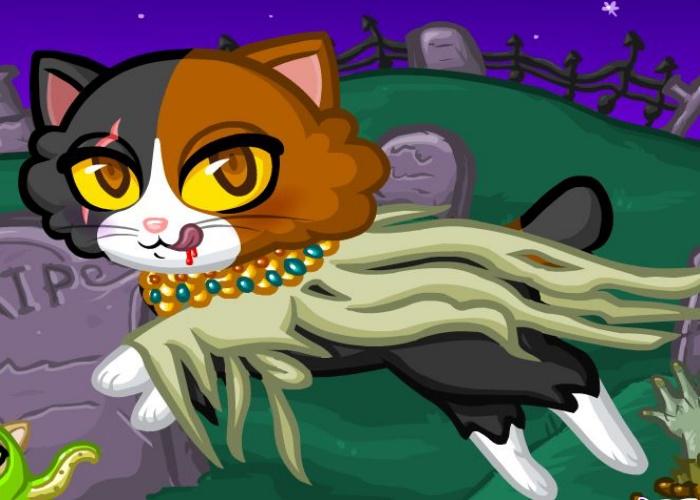 Chat d guis e pour halloween sur jeux fille gratuit - Jeux gratuits de bebe chat ...