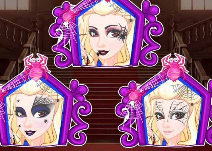 Maquillage pour Halloween : reine araignée
