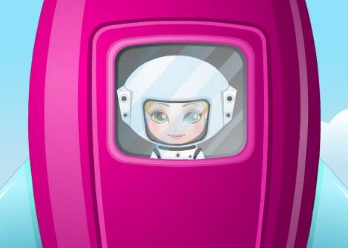 Bébé Madison dans l'espace
