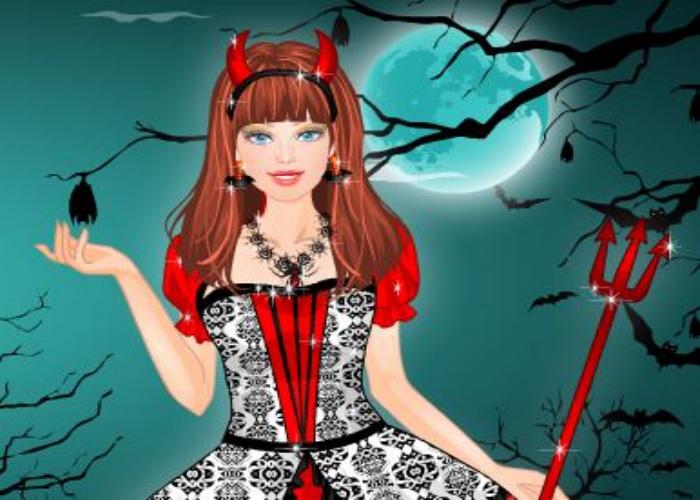 Princesse sombre d'Halloween