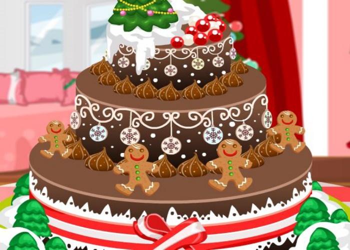 Joli gâteau de Noel fait maison