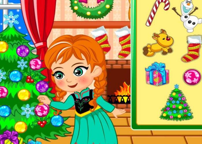 Princesse Anna s'amuse à Noel