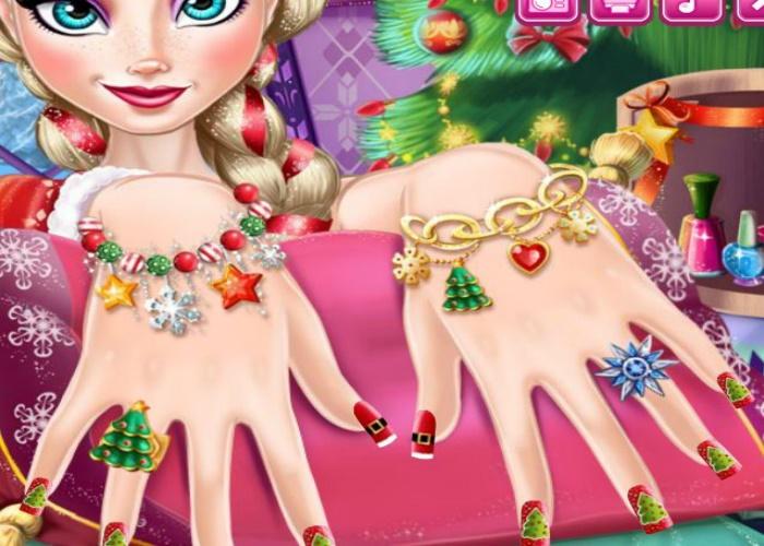 Manucure de Noel pour Elsa
