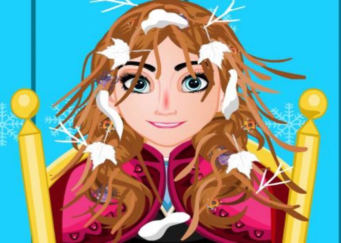 Anna a les cheveux en bataille