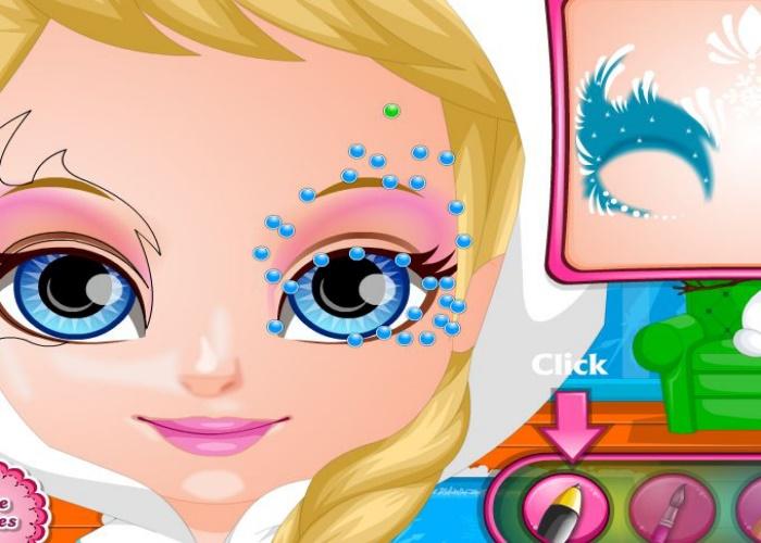 Maquillage comme Elsa Frozen