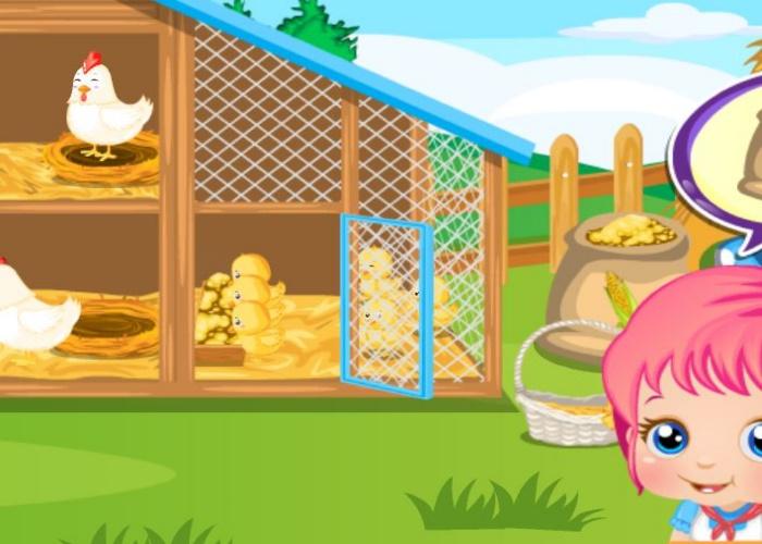 Bébé Alice à la ferme