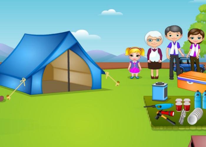 Madison au camping