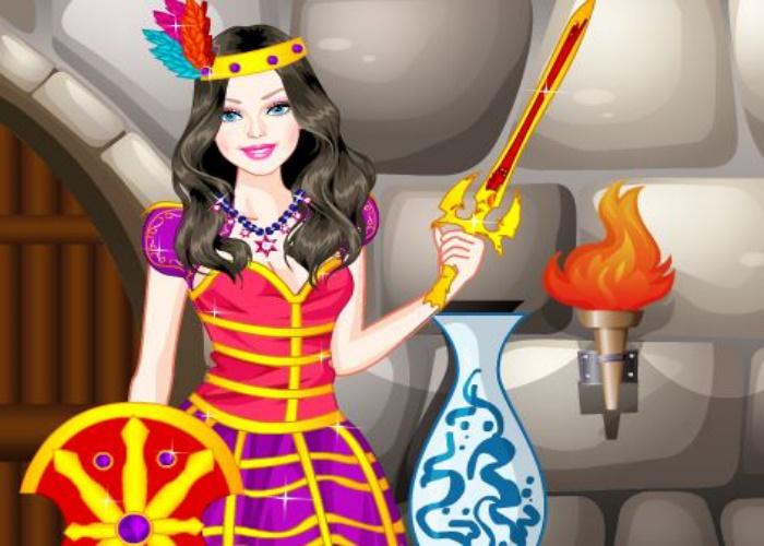 Habillée en princesse chevalier