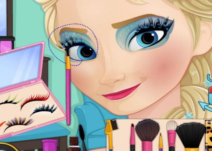 Maquillage d'Elsa avant après