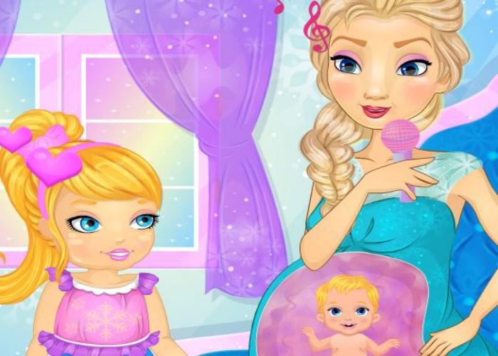 Elsa communique avec bébé