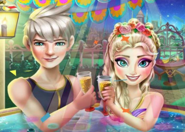 Elsa et Jack au jacuzzi
