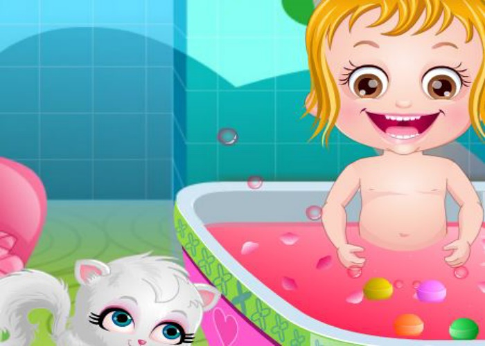 Hazel et le bain relaxant