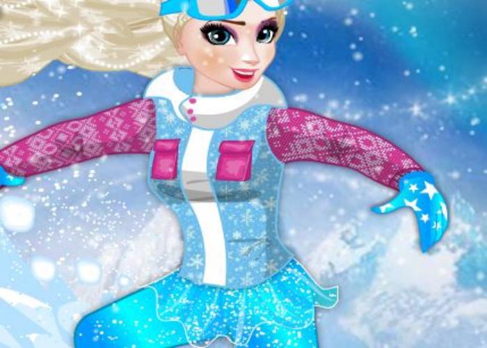 Elsa au ski