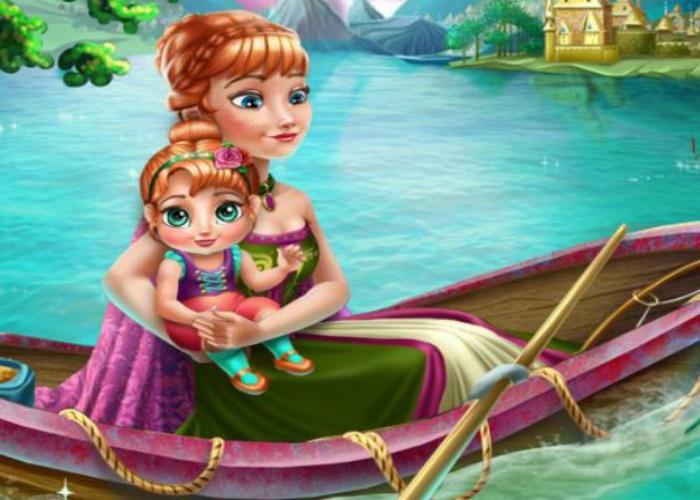 Anna Frozen et sa fille