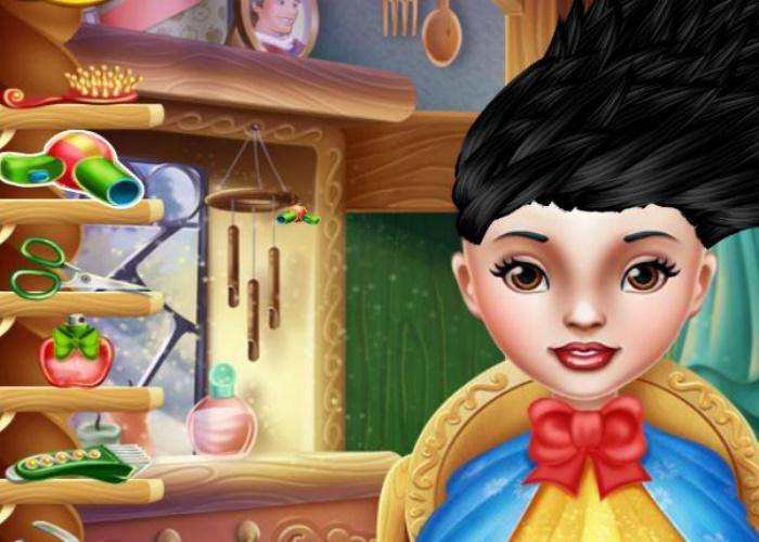 Coiffure de folie blanche neige sur jeux fille gratuit - Jeux de coiffure raiponce ...
