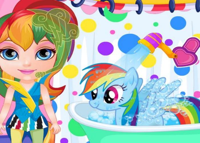 Laver mon petit poney sur jeux fille gratuit - Jeux de petit chaton gratuit ...