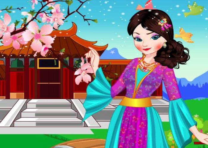 Elsa Frozen, princesse chinoise