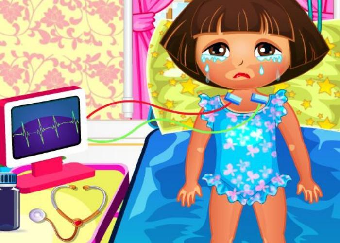 Dora s'est brûlée