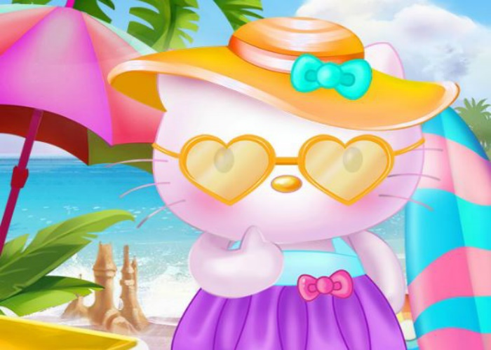Kitty part en vacances