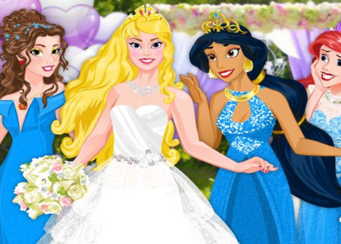 Une princesse Disney et ses demoiselles