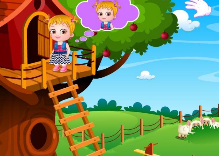 Hazel et la cabane du jardin