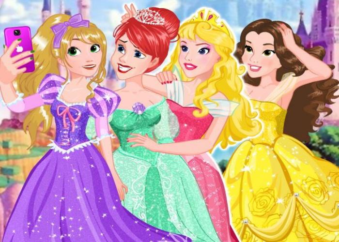 Selfie entre princesses