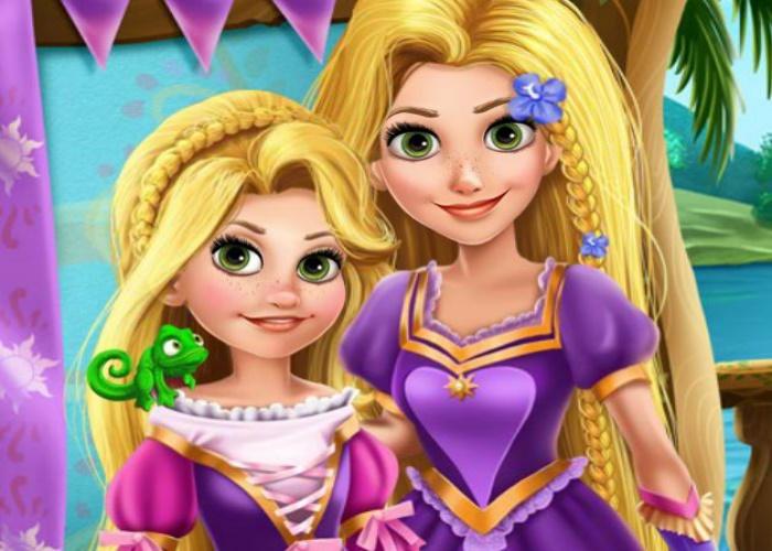 Beaut de raiponce et sa fille sur jeux fille gratuit - Jeux gratuit raiponce ...