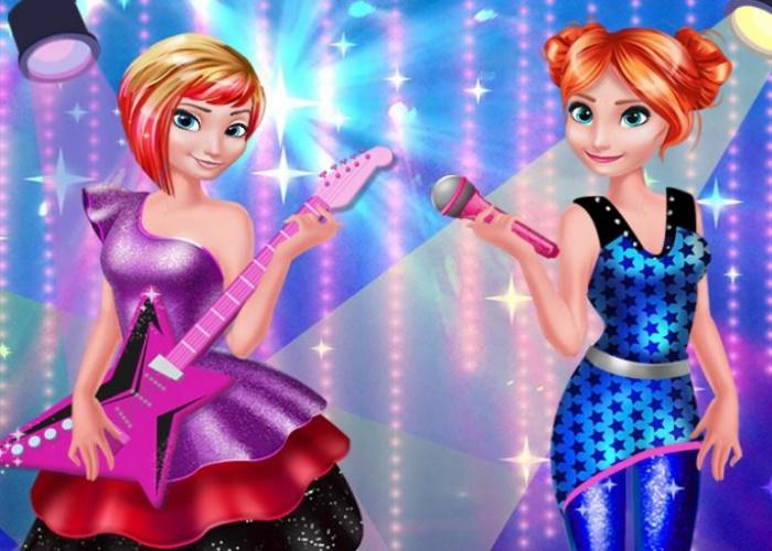 Elsa et Anna Rock'n royals