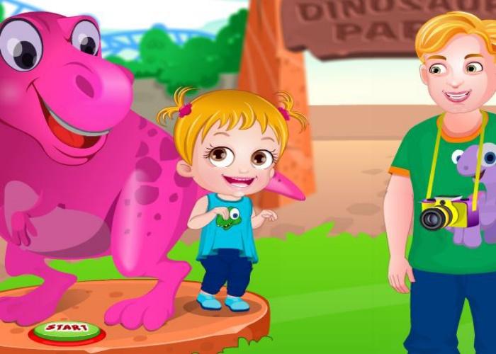 Hazel au parc de dinosaures