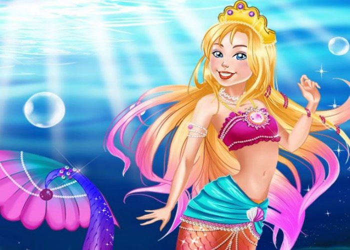Jolie Sirène à la perle