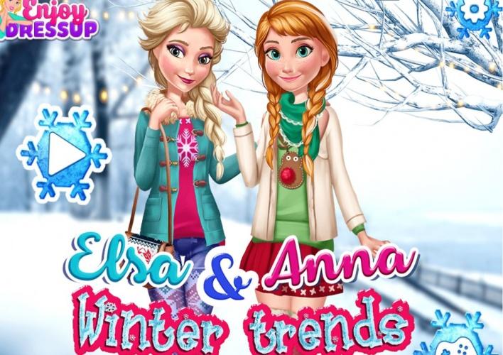 Tendances d'hiver Anna et Elsa