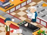 Mamie tient un fast food