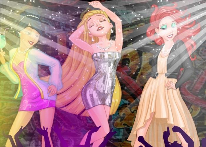 Soirée fête pour Jasmine, Ariel et Raiponce