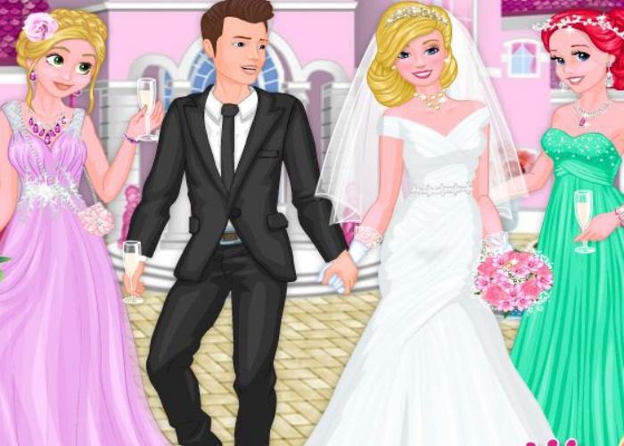 Ariel et Raiponce au mariage
