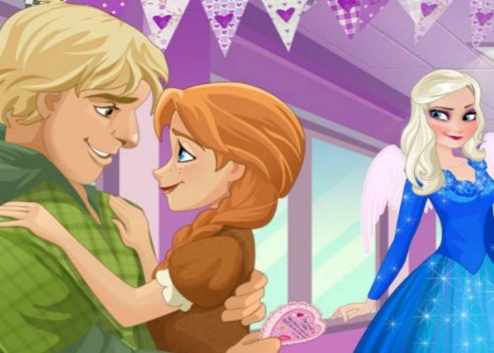 Elsa joue les Cupidon