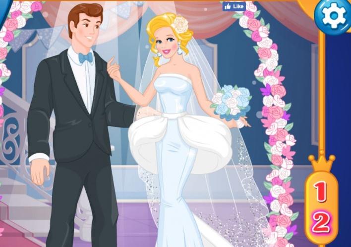 Mariage de Cendrillon avant après