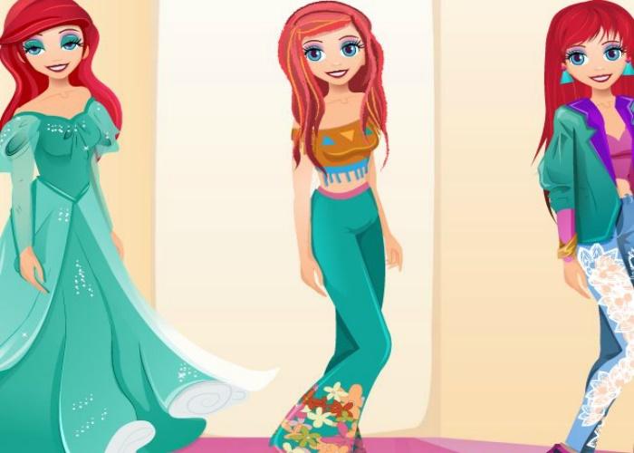 Princesse Ariel en 3 looks